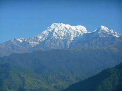はなのいえから臨むヒマラヤ山脈