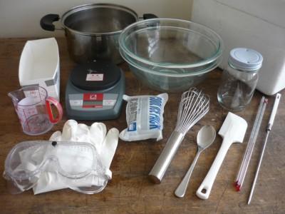 石鹸づくり道具