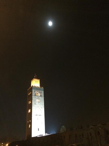 マラケシュ 満月近しKutubiyya_s